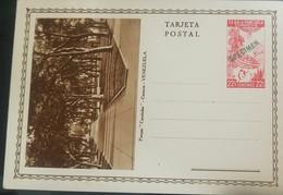 O) 1937 VENEZUELA - UNITED STATES OF VENEZUELA, CACAO-COCOA, SPECIMEN POSTAL CARD, 22 1/2 CENTIMOS RED-SCOTT A53, GATHER - Venezuela