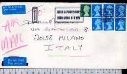 C2050 GREAT BRITAIN Postal History 1998 ORDINARY STAMPS AIR MAIL 4P 2P (m) - 1952-.... (Elizabeth II)