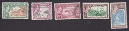 Jamaica, Scott #122-126, Used, George VI, Scenes Of Jamaica, Issued 1938 - Jamaica (...-1961)