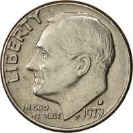 États-Unis, Roosevelt Dime, Dime, 1979, U.S. Mint, Denver, TTB+, Copper-Nickel - Bondsuitgaven