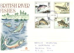 (400) UK FDC Cover -  Premier Jour - 1983 - Fish - FDC