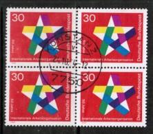 GERMANY  Scott # 995 VF USED BLK. 4 - [7] Federal Republic