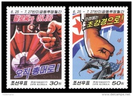 North Korea 2017 Mih. 6379/80 Posters Of Period Of Anti-US Joint Struggle MNH ** - Korea, North