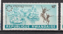 Rwanda, Tir à L'Arc, Archery, Danse Folklorique, Folkloric Dance, Expo'67, Montréal, - Boogschieten