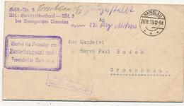 NAMSLAU - 1919 , Zustellurkunde Nach Droschkau - Lettres & Documents