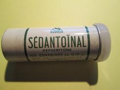 """BOITE EN FER """"SEDANTOÏNAL""""  Laboratoire Sandoz 7 Cm De Haut (plusieurs Scans) - Boxes"""
