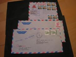 3  Italien Briefe - Briefmarken