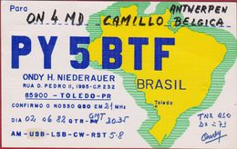 QSL Card Amateur Radio Station Brasil Brazil Brasil Toledo 1982 - Radio Amateur