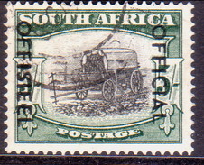 SOUTH AFRICA 1954 SG #O50a 5sh Official Used 19mm Between The Lines Of Opt. (U Of SOUTH Rounded) - South Africa (...-1961)
