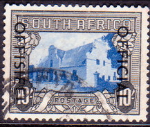 SOUTH AFRICA 1950 SG #O51 (English Inscr.) 10sh Official Used 19mm Between The Lines Of Opt. CV £22 - South Africa (...-1961)