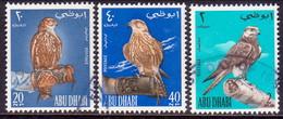 1965 ABU DHABI Mi #12-14 Used CV 36€ Falconry - Abu Dhabi