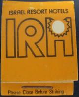 HOTEL MOTEL INN PENSION MOTOR HOUSE RESIDENCE IRH MATCHBOX MATCH BOX ALLUMETTES JERUSALEM TEL AVIV ISRAEL - Matchboxes