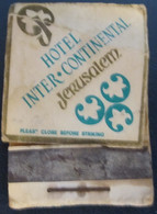 HOTEL MOTEL INN PENSION MOTOR HOUSE RESIDENCE INTERCONTINENTAL MATCHBOX MATCH BOX ALLUMETTES JERUSALEM TEL AVIV ISRAEL - Matchboxes