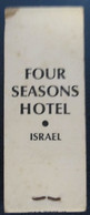 HOTEL MOTEL INN PENSION MOTOR HOUSE RESIDENCE FOUR SEASONS MATCHBOX MATCH BOX ALLUMETTES JERUSALEM TEL AVIV ISRAEL - Matchboxes