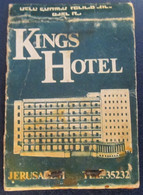 HOTEL MOTEL INN PENSION MOTOR HOUSE RESIDENCE KINGS MATCHBOX MATCH BOX ALLUMETTES JERUSALEM TEL AVIV ISRAEL - Matchboxes