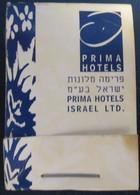 HOTEL MOTEL INN PENSION MOTOR HOUSE RESIDENCE PRIMA MATCHBOX MATCH BOX ALLUMETTES JERUSALEM TEL AVIV ISRAEL - Matchboxes