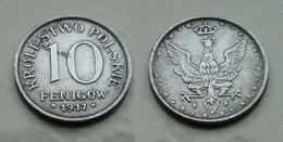 Königreich Polen 10 Pf. 1917 F Schön !   (R487) - Polonia