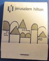 HOTEL MOTEL INN PENSION MOTOR HOUSE RESIDENCE HILTON MATCHBOX MATCH BOX ALLUMETTES TEL AVIV JERUSALEM ISRAEL - Matchboxes