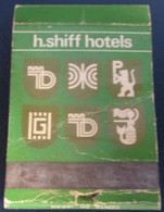 HOTEL MOTEL INN PENSION MOTOR HOUSE RESIDENCE HAYM SHIFF MATCHBOX MATCH BOX ALLUMETTES TEL AVIV JERUSALEM ISRAEL - Matchboxes