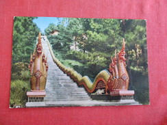 Thailand- Snake Stairs Leadingto Temple In Chiengmai  Pin Hole -- Ref 2769 - Thailand