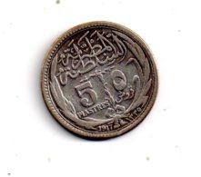 Argent - 5 Piastres De 1917-voir état - Egipto