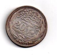 Argent - 20 Piastres De 1917- Voir état - Egypte