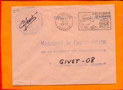 VAUCLUSE, Orange, Flamme SCOTEM N° 2977, J. H. Fabre à Orange, Flamme à Droite - Marcofilie (Brieven)