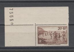 FRANCE / 1937 / Y&T N° 345 ** : Sports & Loisirs 20c + 10c - Gomme D'origine Intacte - Frankrijk