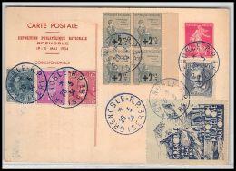 4274 France Entier Postal Stationery Carte Postale I3 + Complémént Jacquard 290 Le Puy Exposition Philatélique Grenoble  - Postales Tipos Y (antes De 1995)