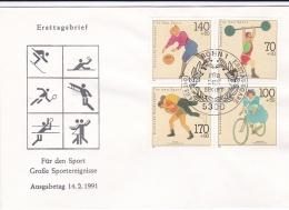 Germany FDC 1991 Für Den Sport (DD1-27) - Francobolli