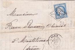 725  -  CERES 60 - 27.5.75 - ALLAIS  à  MONTELIMARD - Postmark Collection (Covers)