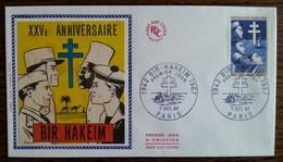 FDC 1967 - YT N°1532 - VICTOIRE DE BIR HAKEIM - PARIS - FDC