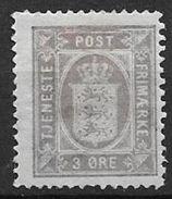 Danemark 1875 Service N° 5B Dentelé 14X13 1/2 Neuf MLH - Service