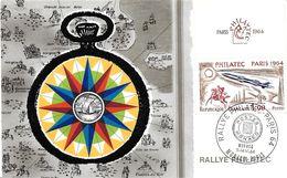 EUROPE FRANCE CACHET COMMEMORATIF RALLYE PHILATEC MONACO - PARIS 11 - 14 / VI / 64 CHRONOMETRE - Marcophilie (Lettres)