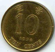 Hong Kong 10 Cents 1994 KM 66 - Hong Kong