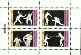 FENCING  -  GUINEA ECUATORIAL   1 Sheet (Mint NH) - Escrime