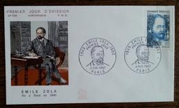 FDC 1967 - YT N°1511 - EMILE ZOLA - PARIS - FDC