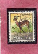 ANGOLA 1953 FAUNA ANIMALS IMPALA ANIMAL ANIMALE CENT. 50 USATO USED OBLITERE' - Angola