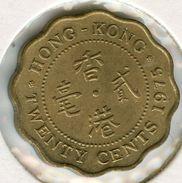 Hong Kong 20 Cents 1975 KM 36 - Hong Kong