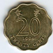 Hong Kong 20 Cents 1994 KM 67 - Hong Kong
