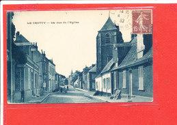 80 LE CROTOY  Cpa Petite Animation La Rue De L ' Eglise          Edit Combier - Le Crotoy