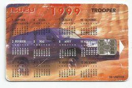 Madagascar Malagasy  Madagaskar TC Publicité Réf Catalogue P16  ISUZU TROOPER  Calendrier 1999 Calendar - Madagascar