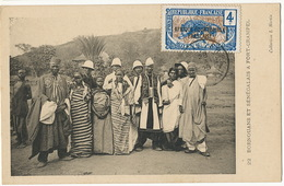 22 Bornouans Et Senegalais à Fort Crampel Coll. Martin Timbre AEF Moyen Congo Brazzaville - Central African Republic