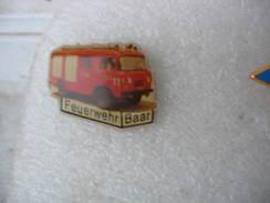 Pin's Camion Des Sapeurs Pompiers De La Commune De BAAR (feuerwerh BAAR) - Bomberos