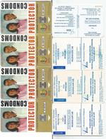 Madagascar Malagasy  Madagaskar TC Publique N°14 & 15 CONDOMS PROTECTOR 50 + 100 Unités Avec LOGO JEUX FRANCOPHONIE 1997 - Madagaskar
