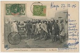 "Senegal Soudan Au Marché Edit Danel Kayes  Voyagé Kayes Vers Bamako Texte Raciste "" Sauvages "" Senegambie Niger - Mali"