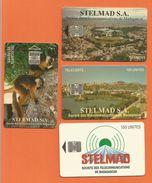 Madagascar Malagasy  Madagaskar TC Publiques N°1 à 4 STELMAD S.A.  LEMUR STADE MAHAMASINA ANTANANARIVO - Madagascar