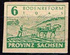 Provinz Sachsen 1945, Michel# 85 X Oder Y ** Papierstärke 0,12 - Zone Soviétique