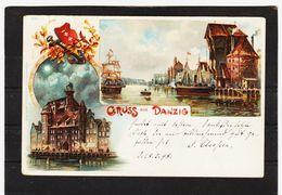 ZAK862 POSTKARTE JAHR 1898 GRUSS Aus DANZIG Gebraucht SIEHE ABBILDUNG - Danzig