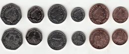 Jersey Decimal Coin Set 1p, 2p, 5p, 10p, 20p, 50p 2012 Uncirculated - Jersey